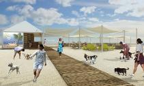 Allestimento spiaggia per persone con cani: Baubeach a Maccarese