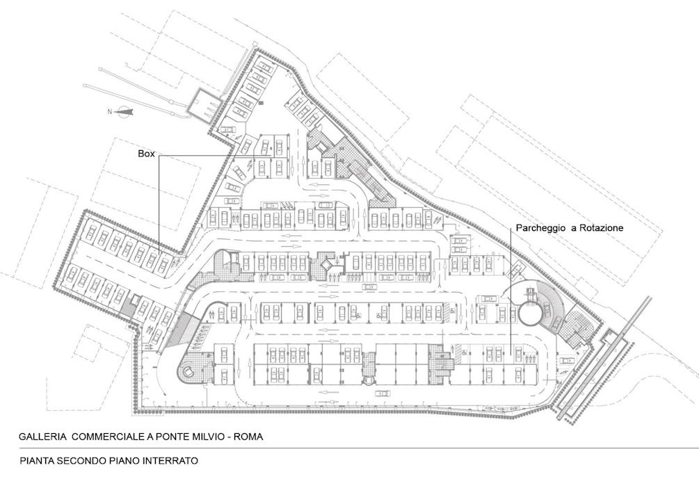 Architetture mercato ponte milvio disegni francesca - Parcheggio interrato ...