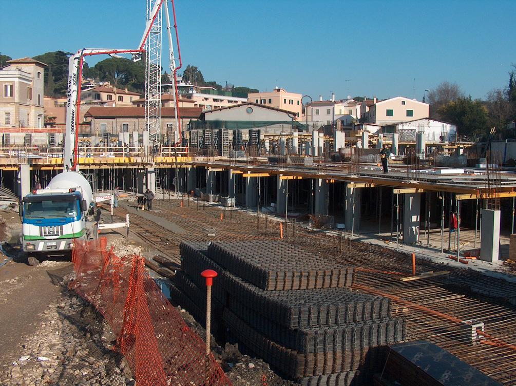 Architetture mercato ponte milvio fasi del cantiere for Mercato ponte milvio