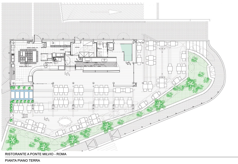 Architetture ristorante bar a ponte milvio disegni for Ponte sopra i disegni del garage